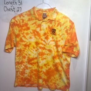 Nike Dri-Fit Tie Dye Princeton XXL Orange Polo